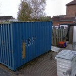 Thieves broke into a container full of stock to the rear of the premises