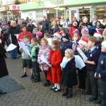 Children from Botley school opened the singing