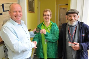 Asda Eastleigh drops in to homeless centre with donation