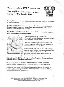 EDP complain to police over antifa leaflet