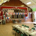 Hedge End's Village Hall ready for the party