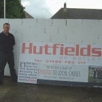 Chris Pink of Hutfields raising funds to help swimming continue at Botley School
