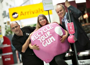 Southampton Airport first to recycle gum