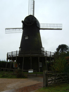 Burseldon WIndmill with the sails in situ.