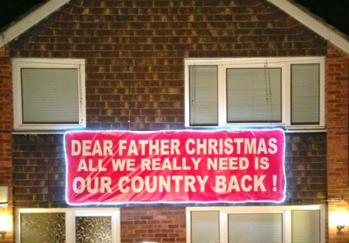 Police probe Ukip cabbie's Santa sign:Updated
