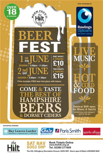 Tickets selling fast for the Hilt Beer Festival ...