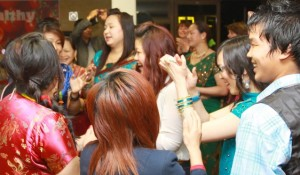 Gurkhas celebrate New Year at Fire HQ